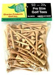 Charter Pro Slim Golf Tees 50 Pack 3 1/4""