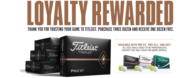 BUY 3, GET 1 FREE : Titleist Personalized Golf Balls